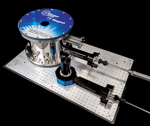 7T magnet and cryostat tabletop